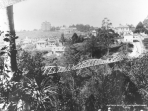 Auckland hospital from cemetery bridge