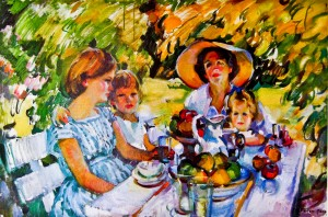 Luncheon Under the Ash Tree by Evelyn Page. Limited 50/500