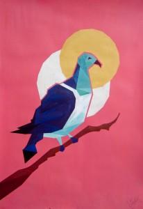 The Fragmented Kereru Pigeon by Ezekiel Crawford